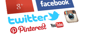 Facebook, Pinterest, Twitter, Google+