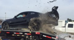 Rear Tire of the Mustang Explodes on Dyno Run