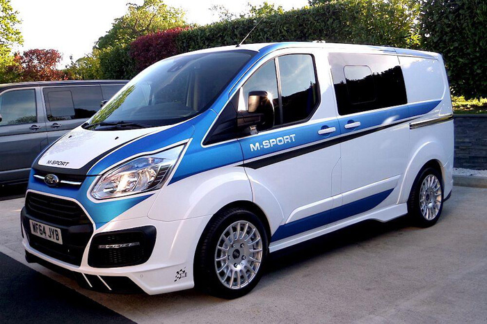 ford transit m sport inspired on fiesta wrc. Black Bedroom Furniture Sets. Home Design Ideas