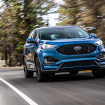 19 Ford Edge ST driving front
