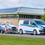 Ford Transit M Sport and Fiesta WRC